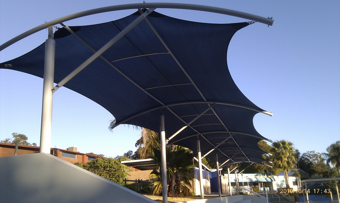 Cantilever shade structures perth aqua shades for Shade structures
